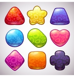 Funny jelly figures vector