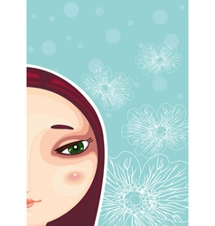 Girl Face Part Close up vector image
