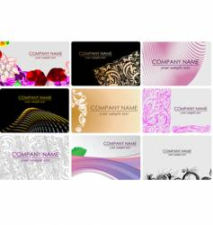 glamour fashion business cards vector image