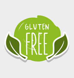 Gluten free message with natural leaves vector