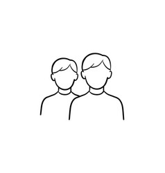 group of people hand drawn outline doodle icon vector image