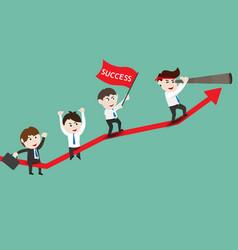 Growth of progressive business vector