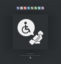 Handicap assistance line vector