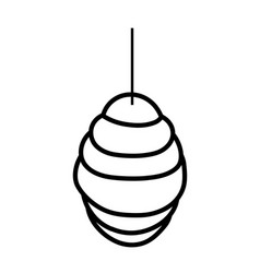 hanging honeycomb hive icon design thick line vector image