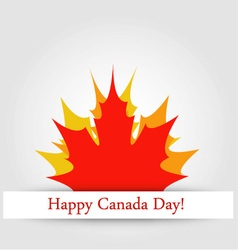 Happy Canada Day card with maple leaves vector