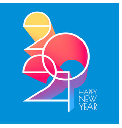 Happy new 2021 year elegant poster template vector