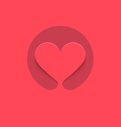 heart logo icon background vector image
