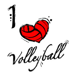 Heart volleyball background vector