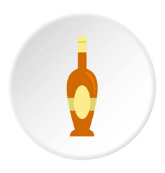 Holiday bottle icon circle vector
