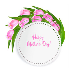 holiday mother day background with getting card vector image