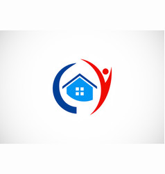 home people logo vector image