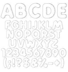 Inflatable alphabet letters numbers and signs vector