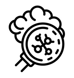 Inspect coronavirus icon outline style vector