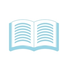 Isolated book symbol vector image