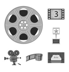 Isolated object of cinematography and studio logo vector