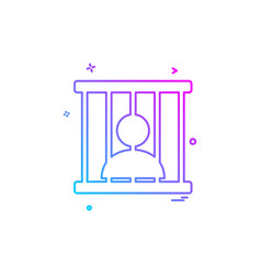 Jail prison locked icon design vector