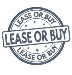 Lease or buy sign or stamp vector