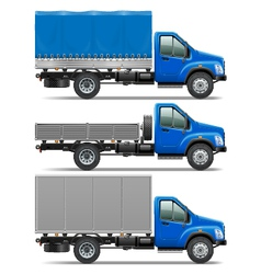 Lorry Icons Set 1 vector image