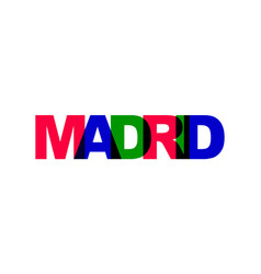 Madrid phrase overlap color no transparency vector
