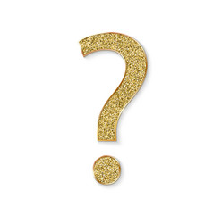 mark question with golden dust faq button vector image
