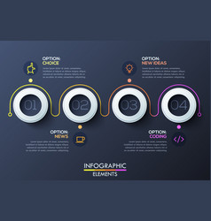 Modern infographic horizontal design template with vector