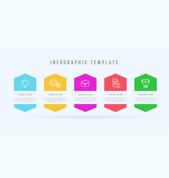 modern infographic template 5 opotions or steps vector image