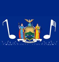 Musical new york state flag vector