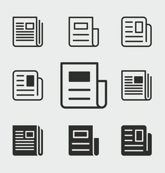 News icons set vector