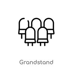 Outline grandstand icon isolated black simple vector