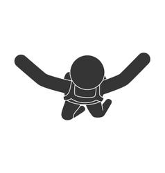 Parachute sky air man vector