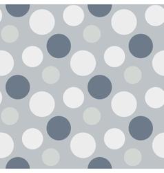 Pattern with green grey polka dots vector