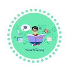 process learning icon flat design vector image