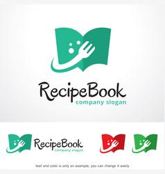 Recipe book logo template design vector