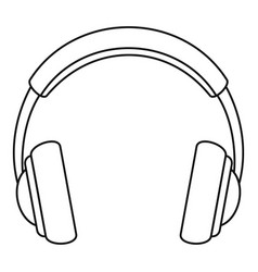 Rock headphones icon outline style vector