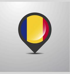 Romania map pin vector