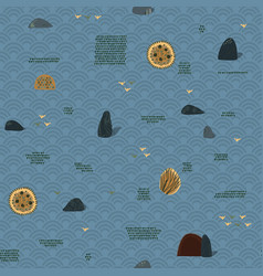 Scandinavian style seamless pattern with stones vector