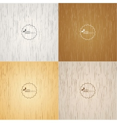 Set Light Wood Background Vector