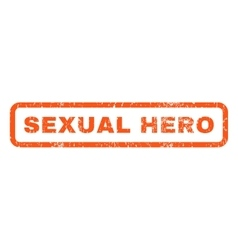 Sexual Hero Rubber Stamp vector