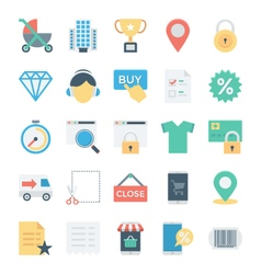 Shopping and E Commerce Colored Icons 3 vector image