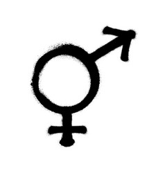sprayed male and female logo man symbol gender vector image