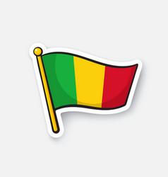 Sticker national flag mali vector