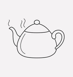 teapot icon line element of vector image