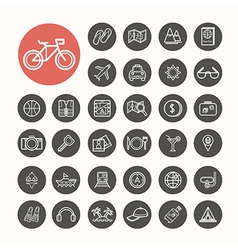 Travel and sea Icons set vector