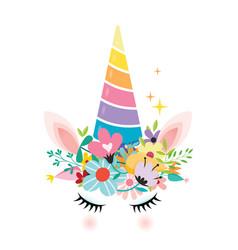 unicorn design vector image