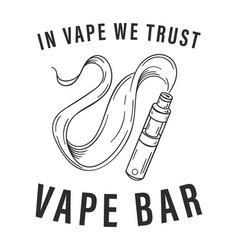 Vape bar logo vector