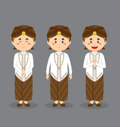 West java character with various expression vector