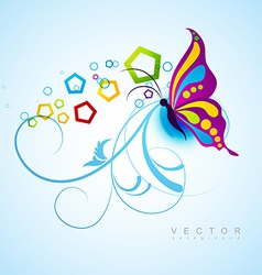 artistic butterfly background vector image