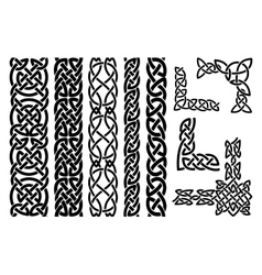 Celtic patterns and celtic ornament corners vector image vector image