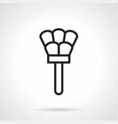 duster simple line icon vector image