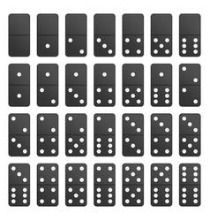 full set black domino pieces vector image vector image